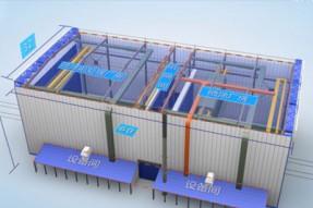 钢沉管防护涂装智能设备演示动画